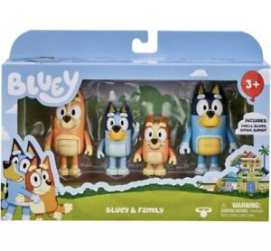 Bluey Family Figurines 4 Pack From Moose Toys - New - Same Day Express Post