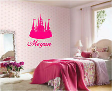 Princess Castle & Personalized Name Wall Sticker Mural  Wall Art Decor CUTE!