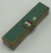 Antique Vintage Lipstick Holder Metal Case
