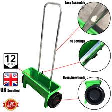 Plastic Garden Lawn Seed Spreader Fertiliser Wheels Outdoor Feed Weed Grass 12L
