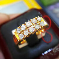 1.02ct NATURAL ROUND DIAMOND 14K SOLID YELLOW GOLD CLUSTER RING FOR MEN