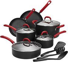 Hard-Anodized Aluminum Cookware Set, Double Nonstick Coating Kitchen Pots