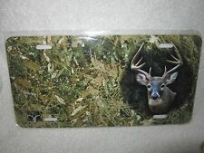 Airbrushed license plate.  Camo w/ deer head.  Free name included.