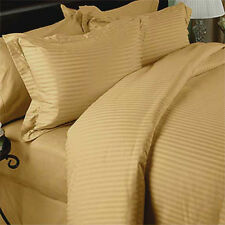 300TC Egyptian Cotton Sheet Set FULL GOLD STRIPE