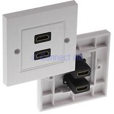 Cavo HDMI TWIN PIOMBO Double Face Piastra Muro Bianco 2 Prese Cavo HDTV DONNA TV