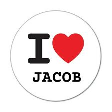 I Love Jacob-Adesivo Sticker Decal - 6cm