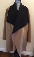 Ralph Lauren Black Label double face reversable coat size 12 black tan