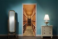 Door Mural Wine Cellar View Wall Stickers Decal Wallpaper 92 83 cm x 165 cm
