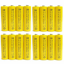 16 x AA 3000mAh Ni-Mh 1.2V rechargeable battery Cell for MP3 RC Yellow US Stock