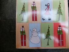 Christmas Collage 90409 - Stamps Happen Inc. Christmas Rubber Stamp - Rare