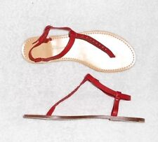 ZADIG & VOLTAIRE tongs cuir rouge P 40 neuves