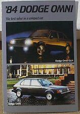 1984 84 OMNI GLH 2.2 DODGE BOYS MOPAR DEALER  DEALERSHIP POSTCARD PROMO