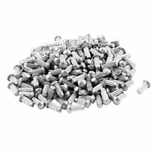 "200 Pcs 1/8"" x 5/16"" Aluminium Round Head Solid Rivets Knurled Shanks"
