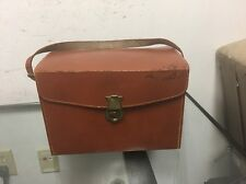Vintage Leather Camera Bag Carrying Case Man Purse Cowhide Leather