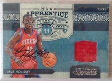2009-10 Timeless Treasures NBA Apprentice Materials Signatures #16 Jrue Holiday
