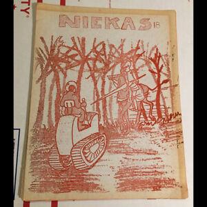 Original 1967 Niekas no 18 science fiction sci/fi fanzine - illustrations & MORE