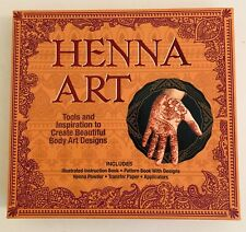 Henna Tattoo Kit All Natural Middle Eastern Indian Henna Applicators Designs Dye