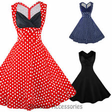 Party/Cocktail Polka Dot Machine Washable Regular Size Dresses for Women