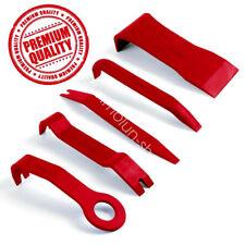 5PCS Red Car Door Dash Audio Radio Panel Trim Install Open Removal Pry Tool Kit