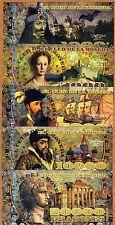 POLYMER SET, El Club De La Moneda, 1000;2000;5000;10000;20000 2014 Evil Rulers
