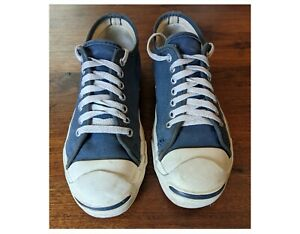 Vintage Converse Jack Purcell Sneakers Made in USA size 6.5 blue