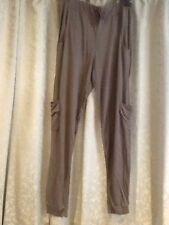 Viscose Loose Fit Plus Size 32L Trousers for Women