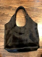Christiansen Brown Calfhair Tote W/ Leather Straps