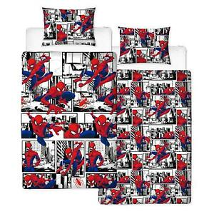 Spiderman 'Metropolis' Rotary Single Bed Duvet Quilt Cover Set Brand New Gift