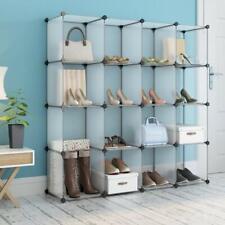 LANGRIA Interlocking Plastic Wardrobe Cabinet 16 Cube Open Storage Organizer NIB