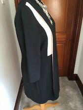 M&S AUTOGRAPH DRESS 16 BNWT BLACK & PINK WAS £65.LINED WORK OR SMART OCCASION