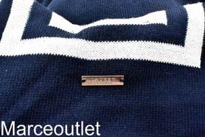 Lauren Ralph Lauren Striped Knit Ruana BLUE /WHITE