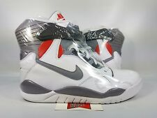 Nike Air Pressure DAVID ROBINSON MAG MARTY MCFLY WHITE GREY 831279-100 sz 9.5