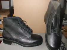 MENS DUNLOP SAFETYMASTER BLACK GRAIN  LEATHER ANKLE WORK BOOTS SIZE 6