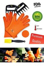 Silicone Cooking Gloves Heat Resistant Oven Mitt - Meat Shredders, Silicone Bast