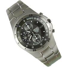 Seiko Quartz Titanium Man's Watch Chronograph Date Titanium Strap Snd419p1