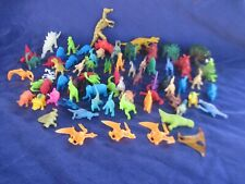 "Colorful Assorted Plastic Rubber Dinosaur Lot Over 75 Pieces 1"" to 3"""