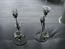 Set of Silver Candle Holders BNWT with defects