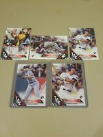 2016 Topps RC ROOKIE CARD Corey Seager 5 Card Lot Los Angeles Dodgers SP 85 Stud
