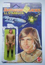 Vintage Mattel Battlestar Galactica - Lt. Starbuck figure, with card back