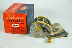 Vintage Shakespeare President Model 1970 Antique Fishing Reel Box & Papers MD26