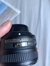Nikon NIKKOR 2180 50mm f/1.8 AF-S M/A Lens