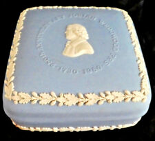 Collectible Wedgwood Blue Jasperware Box 250 th Anniversary Josiah Wedgwood Frs