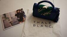 Thale Blanc Audrey Watersnake Hardware Shoulder Bag Handbag Leather Blue