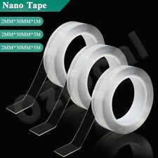 1/3/5 meter Double-Sided Nano Tape Clear Adhesive Invisible Gel Anti-Slip Craft