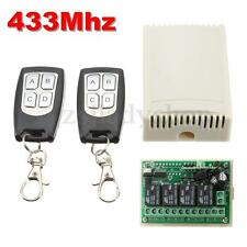 433mhz 12V 4CH 200m Wireless Remote Control Relay Switch Receiver + Transceiver