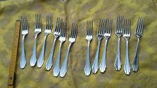 12 forchette posate in acciaio vintage made in Francia marchiate