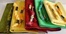 5-Piece Wool felt Bundle Wool Rayon National Nonwovens Embroidery Floss Dmc