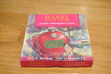 Harry Potter & the Philosopher's Stone Audio CD 2010 Stephen Fry Pink Box Tested