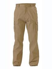 Bisley Workwear BPC6007 - Original 8 Pocket Mens Cargo Pant Khaki Size 107R New