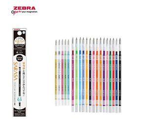 Zebra  SARASA select 0.5mm Ballpoint Pen Refill NJK-0.5 Choose from 20 colors